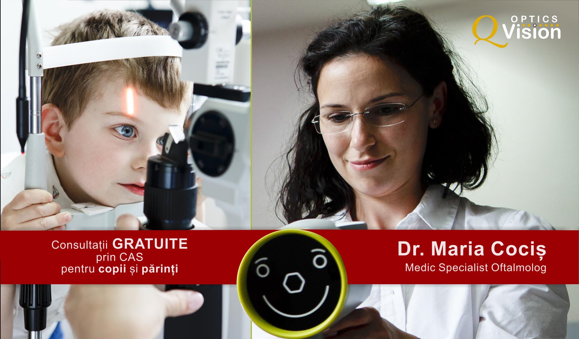 Doctor oftalmologic Maria Cociș Q Vision